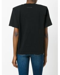MM6 by Maison Martin Margiela - Black Boxy T-shirt - Lyst