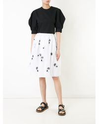Jupe by Jackie - White Embroidered Skirt - Lyst