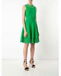 MILLY | Green Laser-cut Trim Sleeveless Dress | Lyst
