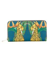 Furla - Green Tiger Print Purse - Lyst