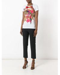 Philipp Plein - White Tropical Print T-shirt - Lyst
