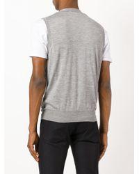 Brioni - Gray Buttoned Vest for Men - Lyst