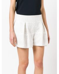 RED Valentino - White Lace Shorts - Lyst