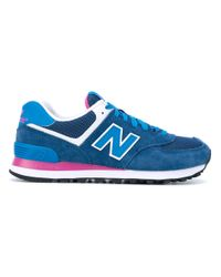 New Balance - Blue 574 Core Plus Sneakers - Lyst