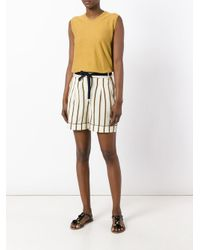 Roberto Collina - Multicolor Striped Tailored Shorts - Lyst