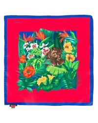 Kiton - Multicolor Jungle Print Pocket Square for Men - Lyst