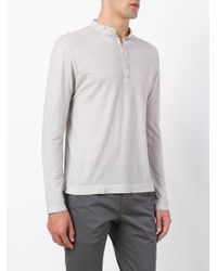 Massimo Alba | Gray Buttoned Sweater for Men | Lyst