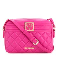 Love Moschino | Pink Quilted Shoulder Bag | Lyst