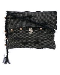 Ancient Greek Sandals - Black Woven Charm Crossbody Bag - Lyst