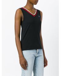 Undercover - Black Trimmed Tank Top - Lyst
