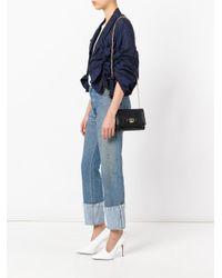 Ferragamo - Black - Laser-cut Vara Shoulder Bag - Women - Calf Leather/metal - One Size - Lyst