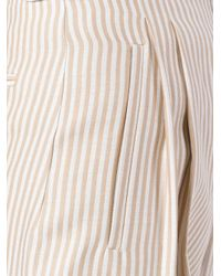 Fendi - Natural Striped Cropped Trousers - Lyst