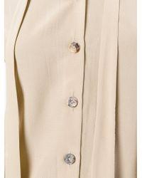 Cherevichkiotvichki - Natural Bow Tie Neck Shirt - Lyst