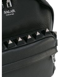 Salar - Black 'otti' Studded Backpack - Lyst