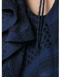 Cecilie Copenhagen - Blue V-back Ruffle Top - Lyst