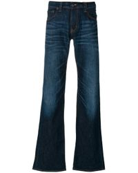 Armani Jeans | Blue Distressed Bootcut Jeans for Men | Lyst