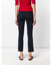 The Row - Blue Lana Wooltwill Straight Leg Pants - Lyst