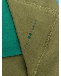 ODEEH - Green Blockcolour Scarf - Lyst