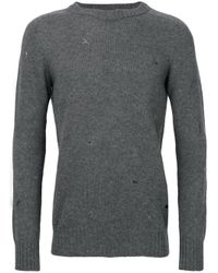 Dondup - Gray Distressed Jumper for Men - Lyst