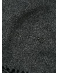 Tom Ford - Gray Wrap Scarf for Men - Lyst