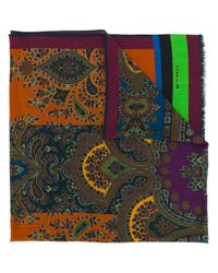 Etro - Multicolor Printed Scarf for Men - Lyst