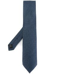 Tom Ford - Blue Maze Embroidered Tie for Men - Lyst
