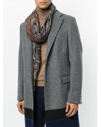 Etro | Gray Floral Pattern Scarf for Men | Lyst