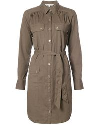 Trina Turk | Green Cargo Shirt Dress | Lyst
