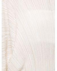 Sonia Rykiel - Natural Pleated Sweater - Lyst