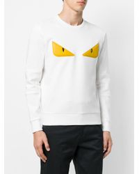 Fendi - White Monster Eyes Sweatshirt for Men - Lyst