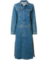 Calvin Klein | Blue Long Denim Jacket | Lyst