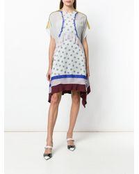 Valentino - Gray Bouquet Print Dress - Lyst