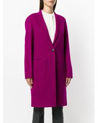 Theory   Purple Double-faced Essential Coat   Lyst