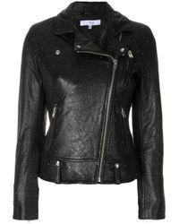 IRO | Black Micro Studded Biker Jacket | Lyst