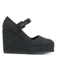 Castaner - Gray Buckle Wedges - Lyst