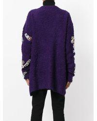 Faith Connexion - Purple Embellished V-neck Cardigan - Lyst