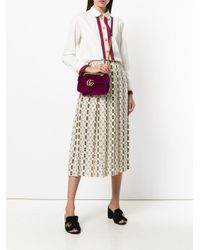 Gucci | Purple Gg Marmont Shoulder Bag | Lyst