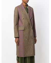 Golden Goose Deluxe Brand - Multicolor Color Block Checkered Coat - Lyst