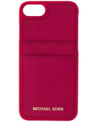 lyst michael michael kors iphone 7 case with card slots. Black Bedroom Furniture Sets. Home Design Ideas