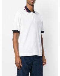 MSGM - White Logo Polo Shirt for Men - Lyst