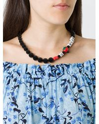 Venessa Arizaga - Black Love U Much Strawberry Beaded Necklace - Lyst