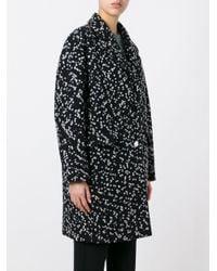 Carven - Black Oversized Tweed Coat - Lyst