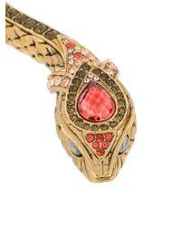 Roberto Cavalli - Metallic Snake Necklace - Lyst