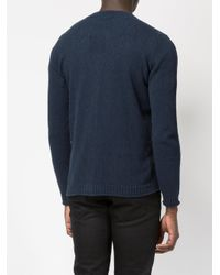 Roberto Collina - Blue V-neck Cardigan for Men - Lyst