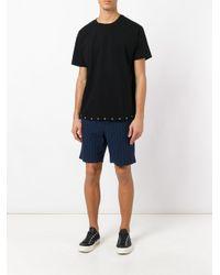 RTA - Black Eyelets Detail T-shirt for Men - Lyst