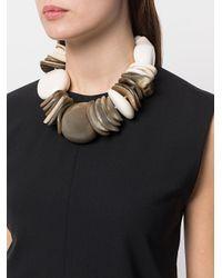 Monies - Gray Unique Multi-charm Necklace - Lyst