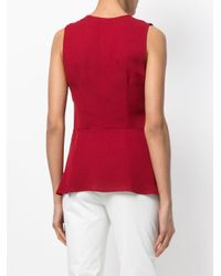 Theory - Red Fluid Tank Top - Lyst