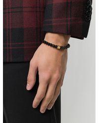 Northskull - Black Obsidian Bracelet for Men - Lyst