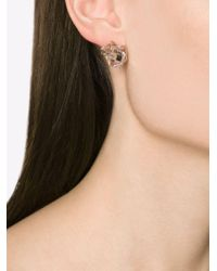 Melissa Joy Manning - Metallic Caged Herkimer Diamond Earrings - Lyst
