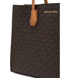 MICHAEL Michael Kors | Brown Monogram Print Tote | Lyst